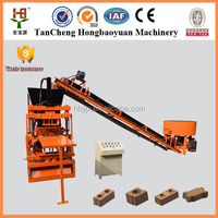 HBY 2-10 innovative new products interlocking hollow compressed earth blocks machines