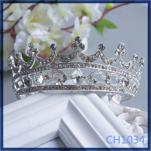 Free sample round bridal accessories cheap luxury wholesale hair jewelry pieces headband <strong>crown</strong>