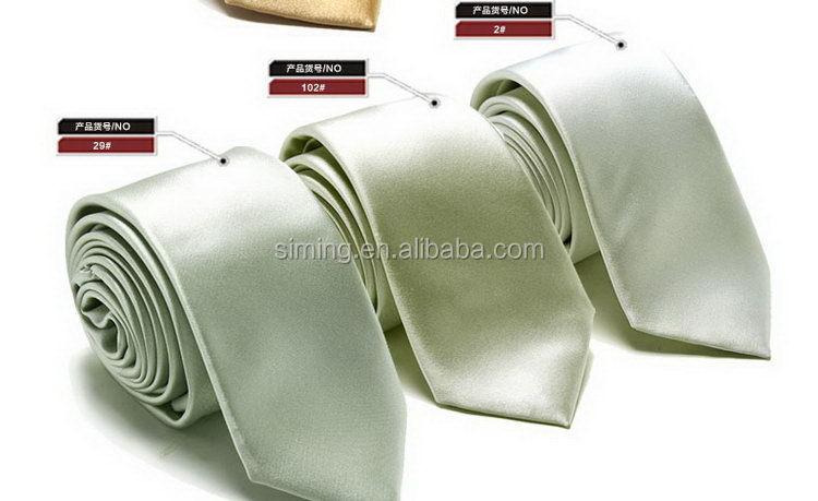 Top grade factory direct solid plain cotton ties