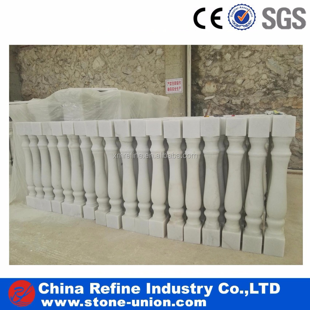 Marble stone pillar chinese white marble pillars column prices