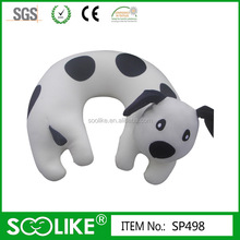 Animal shape neck pillow with filled microbeads