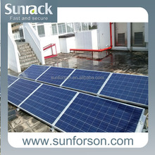 popular metal structure, flat roof solar panels mount