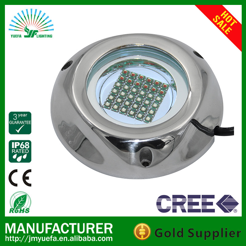 RGB LED UNDERWATER LIGHT WITH IP68, ULTRA BRIGHTNESS FOR BOAT USE