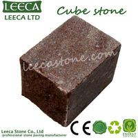 Granite cube stone | red porphyry paving stone
