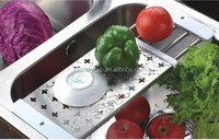 S/S+ABS 35.5*17 Kitchen stainless steel sink food drying rack