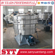Tumbler type vibrating sieving machine for herbal powder
