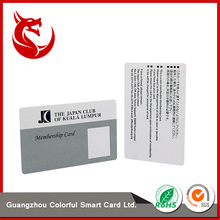 Factory supply iso size plastic rf card