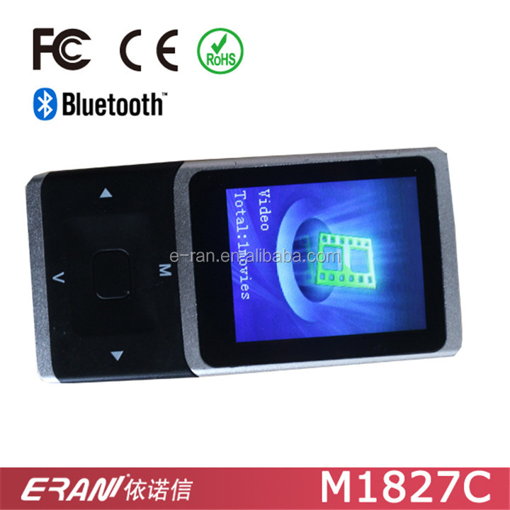 "Fashion Design MP4 Music Player with 1.8"" TFT Display Screen, Bluetooth MP4 Music Player with TF & FM Function"