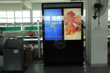 "Professional double side floor stand indoor lcd digital signage display 55""screen"