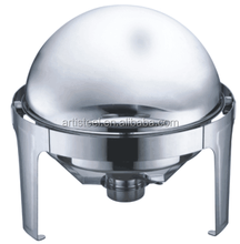 Popular round 6.0L stainless steel buffet chafing dish food warmer