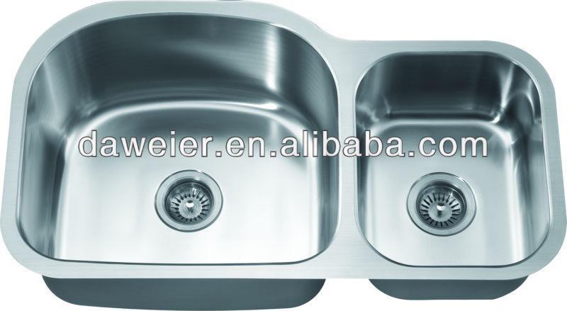 ASU107R stainless steel double bowl water sink