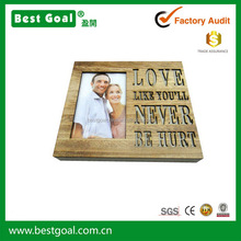Home decor handmade craft veneer wood picture frame MDF photo frame