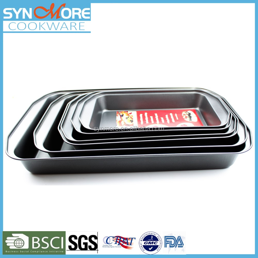 0.4MM Carbon Steel Non-stick Rectangle Deep Baking Tray, Roasting Pan, Cake Pan