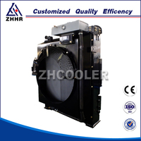 Aluminum hydraulic oil radiator