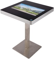 Fashion square table, smart touch table for coffee shop