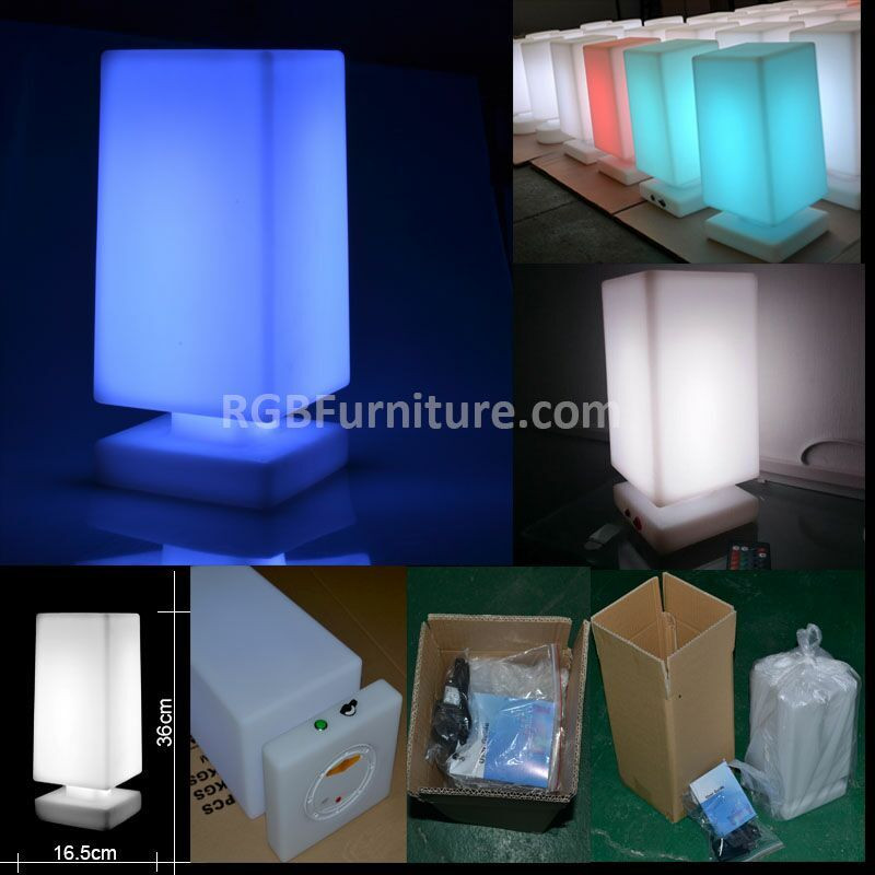 home decor led light desk lamp with rechargeable battery