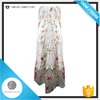 2016 New Women night Dresses With White Floral Paisley Maxi Dress Women Floral Dress Women Clothing