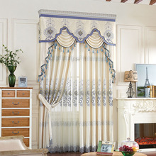 luxury turkish curtains embroidery velvet drapery valances