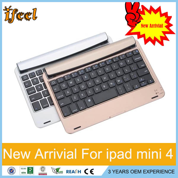 2016 New Arrivals Wireless Keyboard for iPad Mini 4 Tablet PC Bluetooth 3.0 Ultra-thin Keyboard