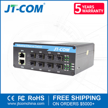 Outdoor 8 SFP port 2 Ethernet Gigabit industrial unmanaged ethernet switch