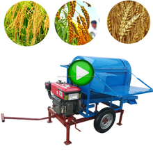 Combine Price Multi Crop Design Manufacturer Multicrop Paddy Pdf Video Mini Thresher For Wheat In India