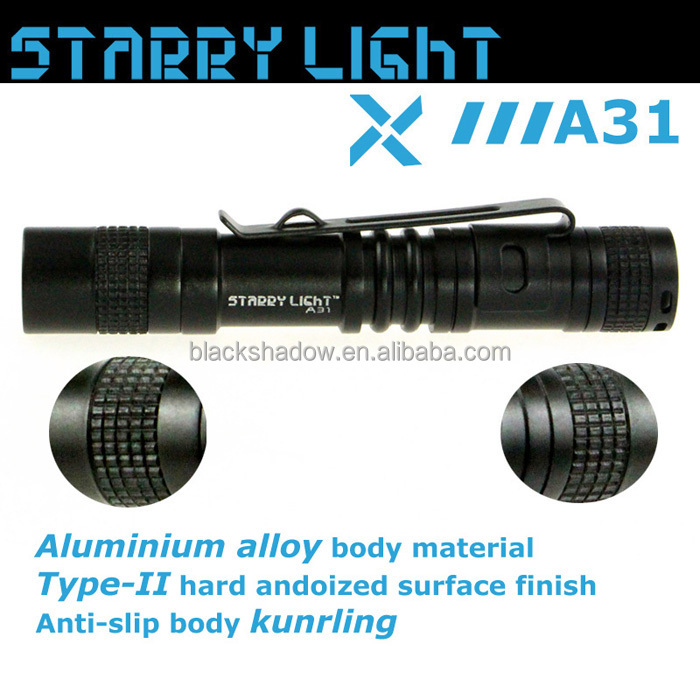 StarryLight A31 small gift AAA battery led flashlight 80 Lumen keyring LED torch