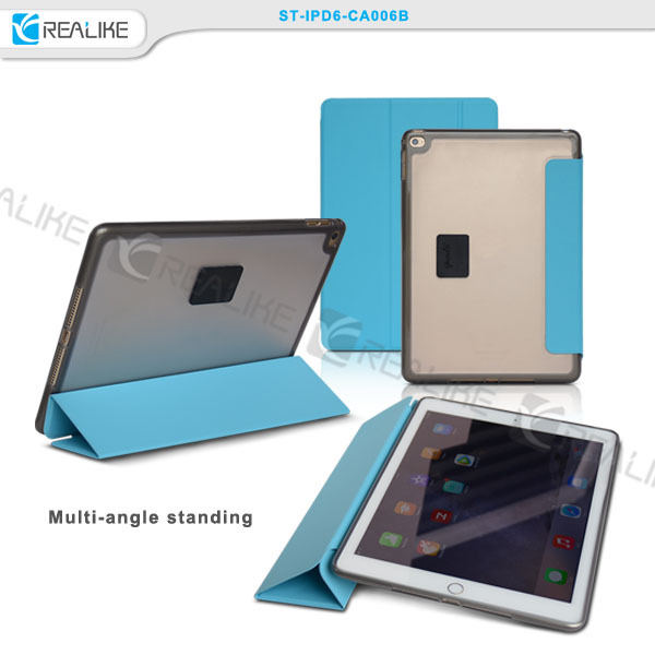 Smart cover case for ipad air 2, ultra slim tablet case for iapd air 2, 9.7inch tablet case cover