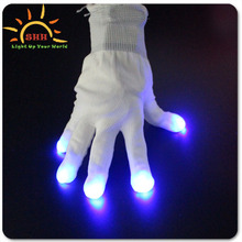 LED Flashing Gloves Black Light White Gloves