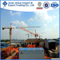 2016 Luffing QTZ80(6010) moving tower crane price by JINKUI in China