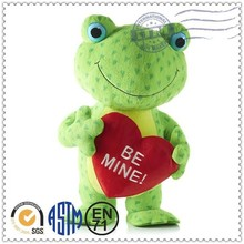 Promotional Logo Customized cute soft toys frog