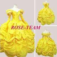 Rose Team-Free Shipping Custom Made Civil War Dress Southern Belle Yellow Dress Sexy Carnival Halloween Costume