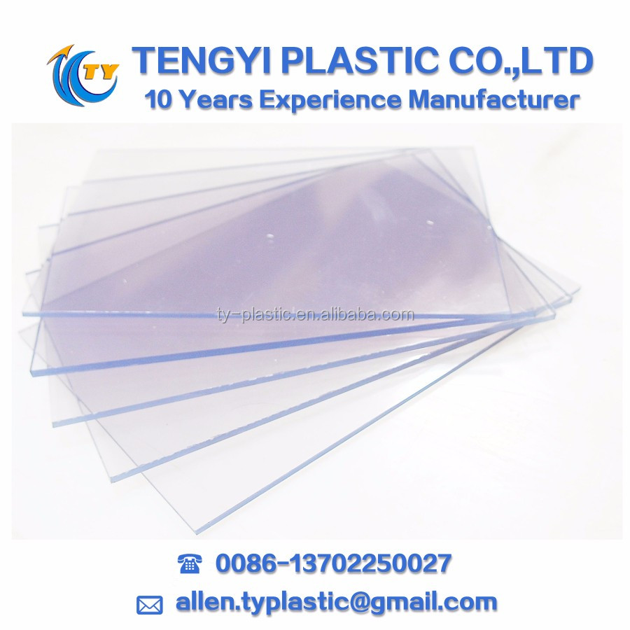 cast acrylic sheet clear pvc rigid sheet transparent rigid pvc sheet