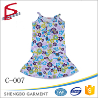 sleeveless 100% Cotton Printing Children Clothing Sets wholesale