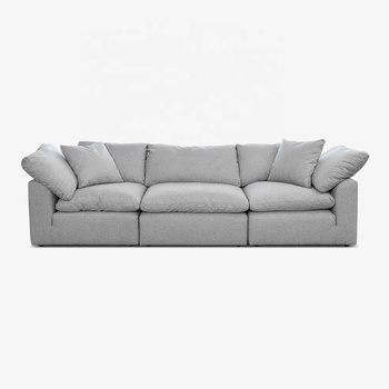 French classic sofa 3 seat sofa solid wood legs living room sofa