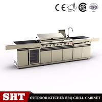 Stainless steel outdoor storage cabinet BBQ components outdoor kitchen cabinet