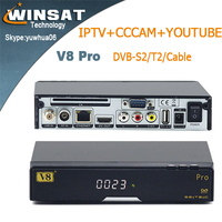 Genuine V8 pro twin tuner satellite receiver DVB-S2+T2/C full HD iptv box better than zgemma star h2 porn video