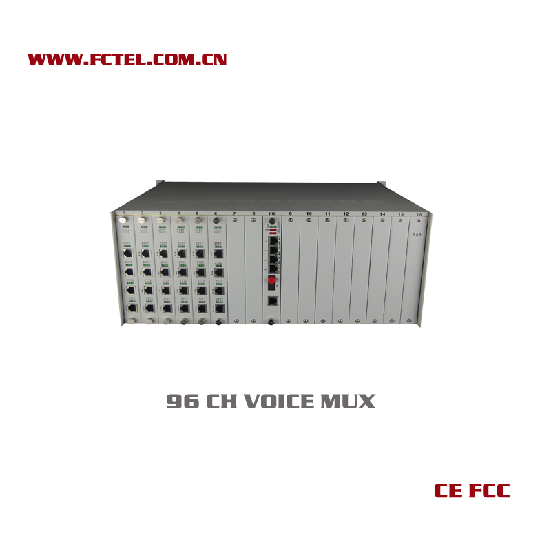 Optical equipments of 96 channel audio to coaxial cable pcm mux