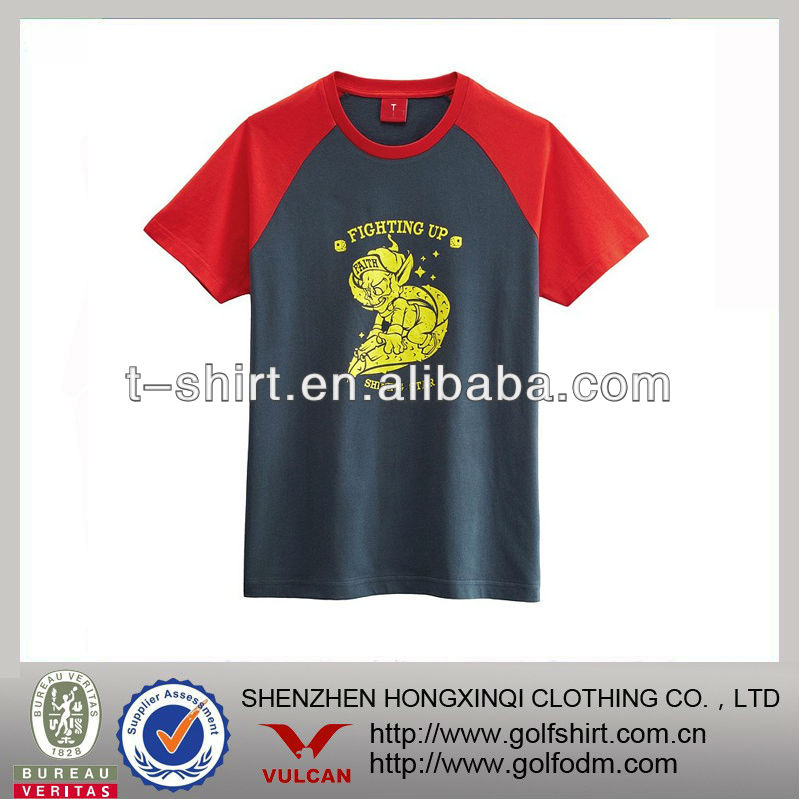 2013 New design 100% cotton casual tee shirts