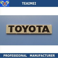 ABS plastic chromeToyota car letter car badge emblem with imprinted
