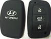 Big discounts 3 button silicon rubber key protector for hyundai key car key silicone case