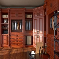 Modern New Design Cherry Red PVC Bedroom Wardrobe Furniture