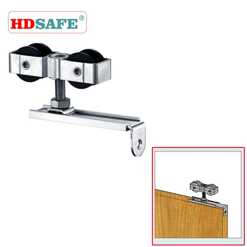 High quality modern design easy moving interior sliding door system, sliding wooden door hanger roller
