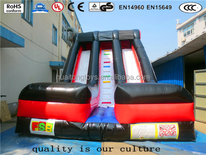 HuaiTong high quality and durable inflatable slide with double lanes bouncer funcity amusement park for kids playing