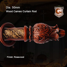 70mm Rosewood wooden thick curtain rods