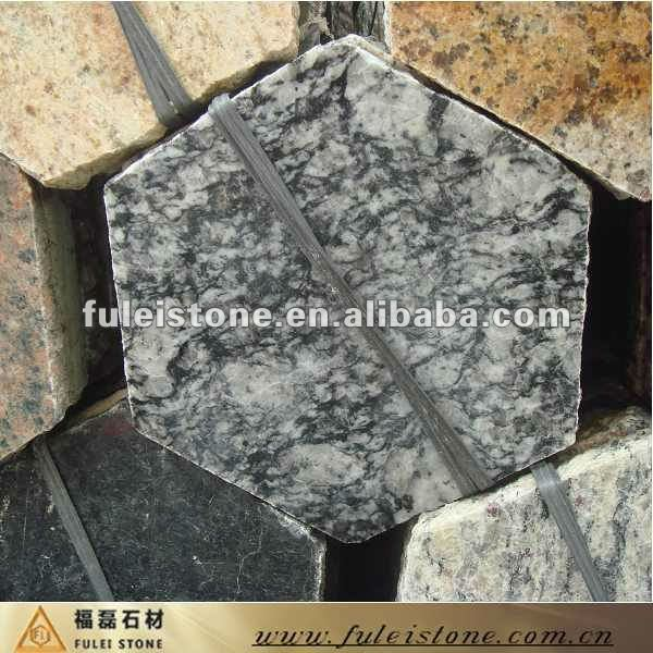 spray white granite hexagon paver