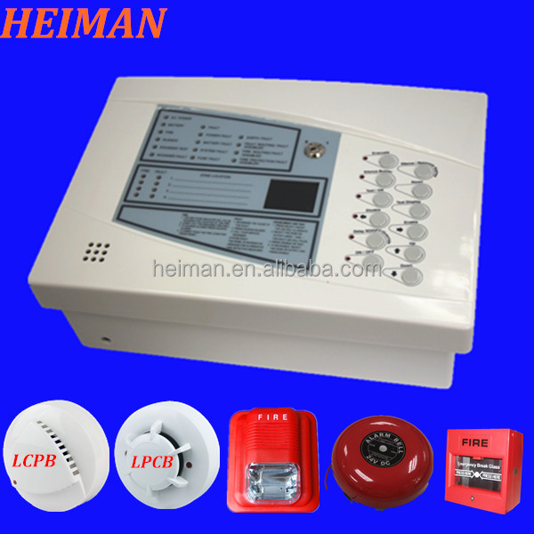 HEIMAN hot product 2 to 4 zones addressable Fire detection alarm system