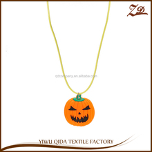 Promotions Gift Led Halloween Pumpkin Flashing Necklace