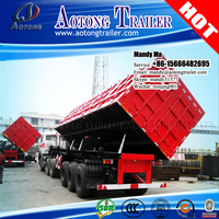 Durable tri-axles 60 tons side dump semi trailer, side tipping truck trailer
