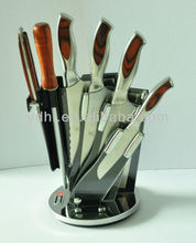 kitchen knife set and transparent acrylic block
