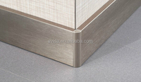 durable indoor stainless steel skirting board